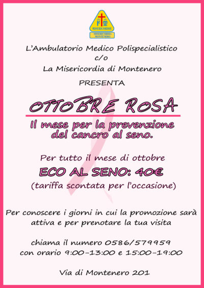 Ottobre, in Ambulatorio è il mese della prevenzione del tumore al seno