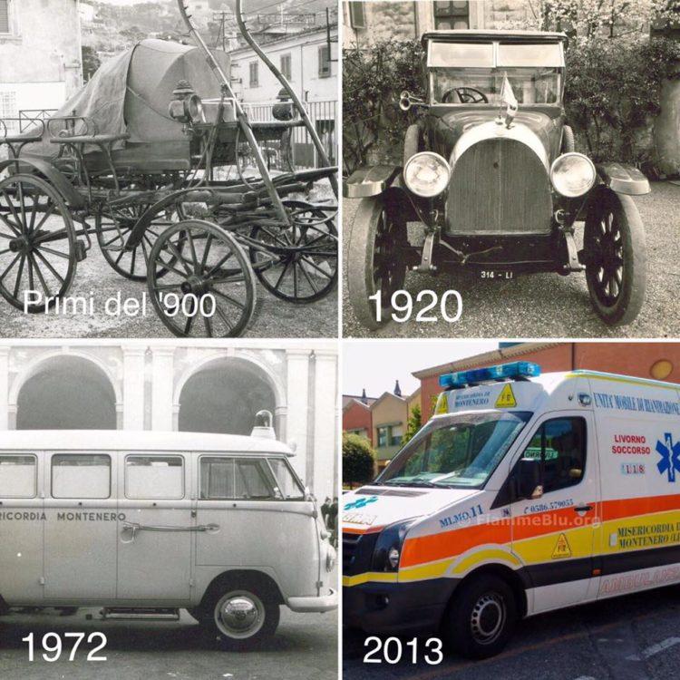 Il futuro guarda al passato, la storia delle ambulanze della Misericordia di Montenero