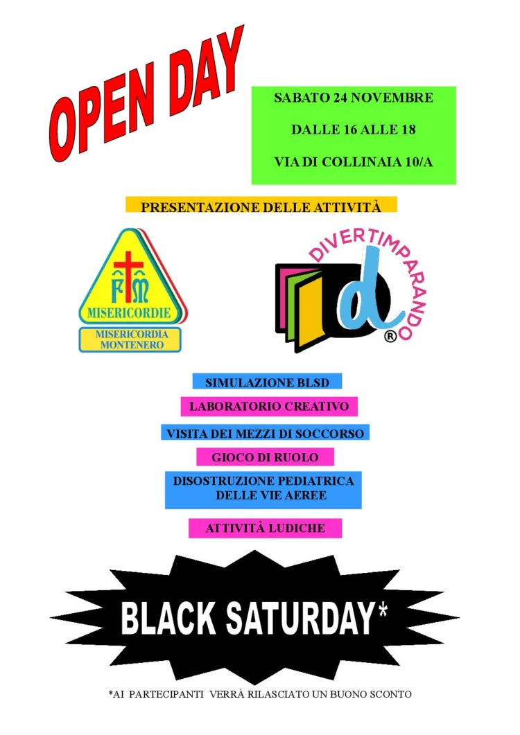 OPEN DAY – BLACK SATURDAY