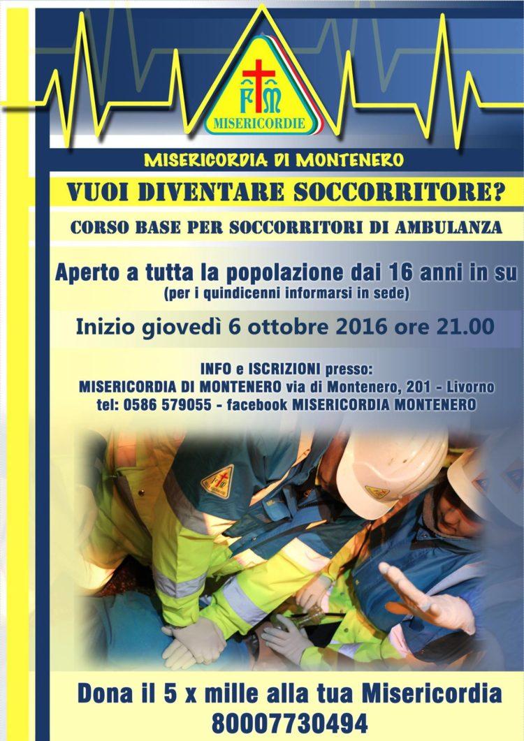 Parte il 6 Ottobre il nuovo Corso per Soccorritori in Ambulanza