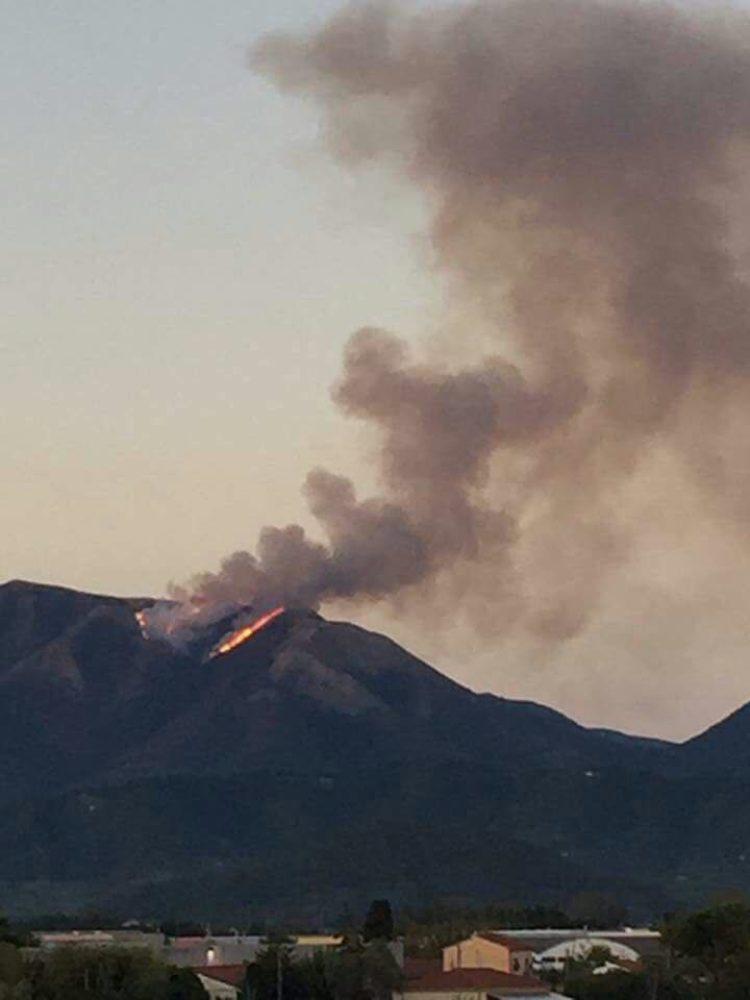 Incendio sul Monte Prana (Camaiore) : partita la squadra AIB della Misericordia di Montenero