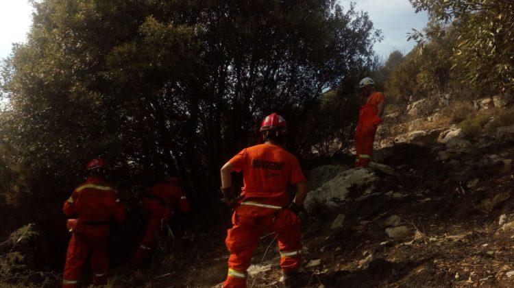 Incendio sul Monte Prana, il video dall'elicottero