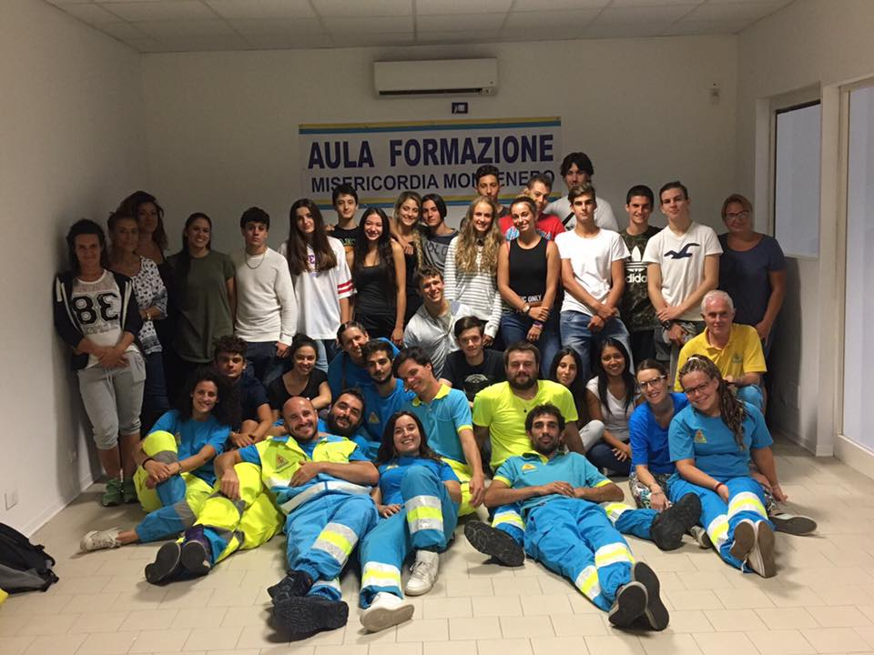 Ieri sera si è tenuto l'esame finale del Corso per Soccorritori Volontari (Base)