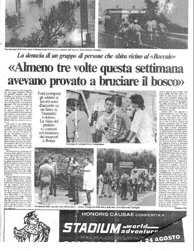 Incendio a Limoncino/Valle Benedetta: partita la Squadra AIB della Misericordia di Montenero e il pensiero va immediatamente a …