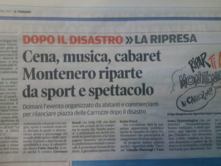 Montenero riparte da sport e spettacolo: Evento di Beneficenza, sabato 30 Settembre dalle 19, P.zza delle Carrozze