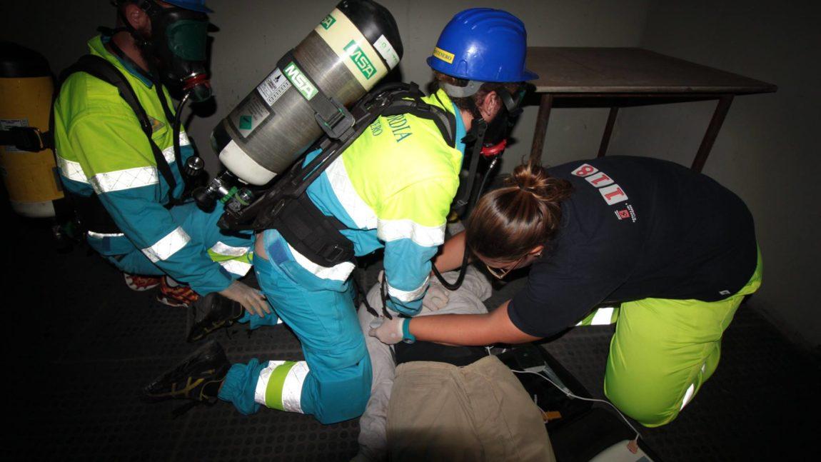 Esercitazione pratica congiunta con i Vigili del Fuoco di Livorno