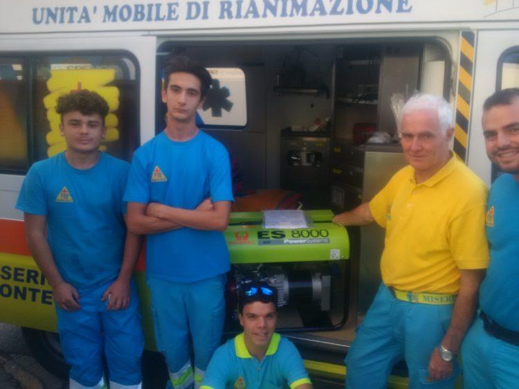 """La Misericordia di Montenero ha ricevuto in dono dal """"LIONS CLUB LIVORNO HOST"""" un nuovo Generatore"""