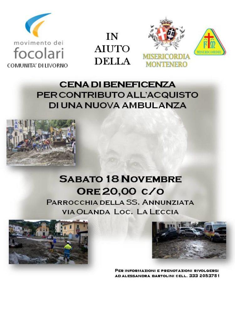 Movimento Focolari: Cena di Beneficenza – Sabato 18 Novembre – Parrocchia SS. Annunziata, via Olanda