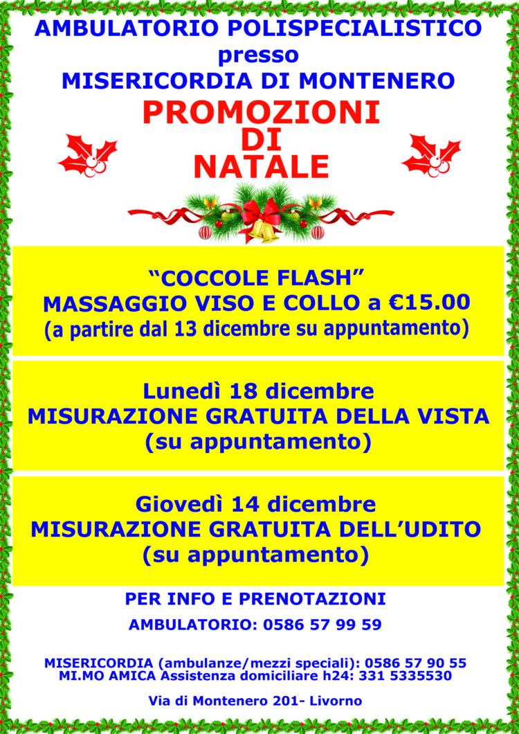 Ambulatorio presso la Misericordia di Montenero: ecco le Promozioni di Dicembre