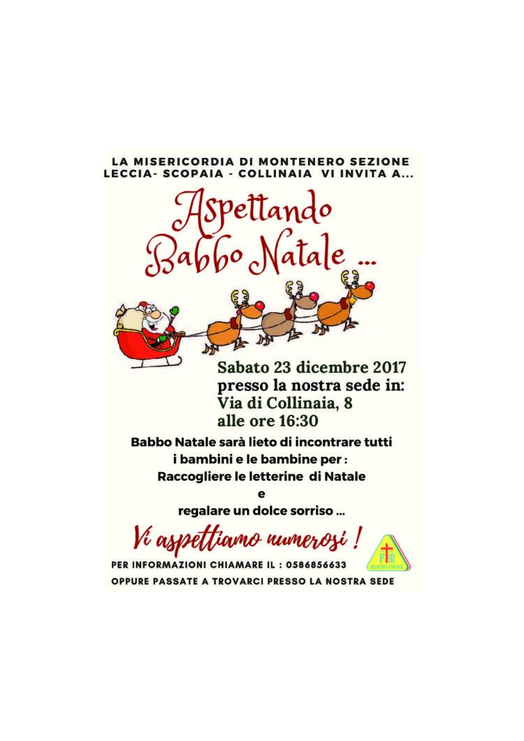"""Babbo Natale alla """"Leccia – Scopaia – Collinaia"""" – Sabato 23 Dicembre ore 16.30"""