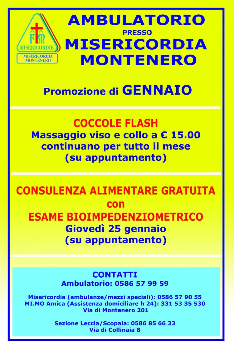 Ambulatorio Polispecialistico presso la Misericordia di Montenero – Le promozioni di Gennaio
