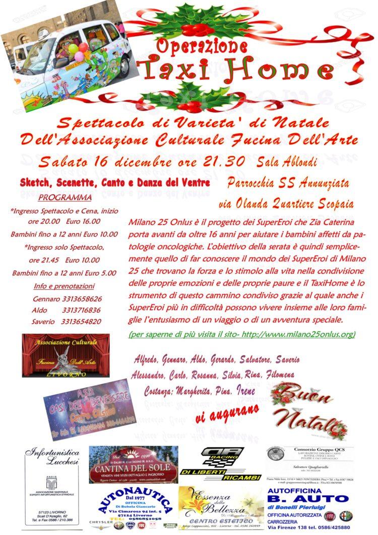 Operazione Taxi Home – Parrocchia Santa Annunziata, Sala Ablondi,  Sabato 16 Dicembre ore 21.30