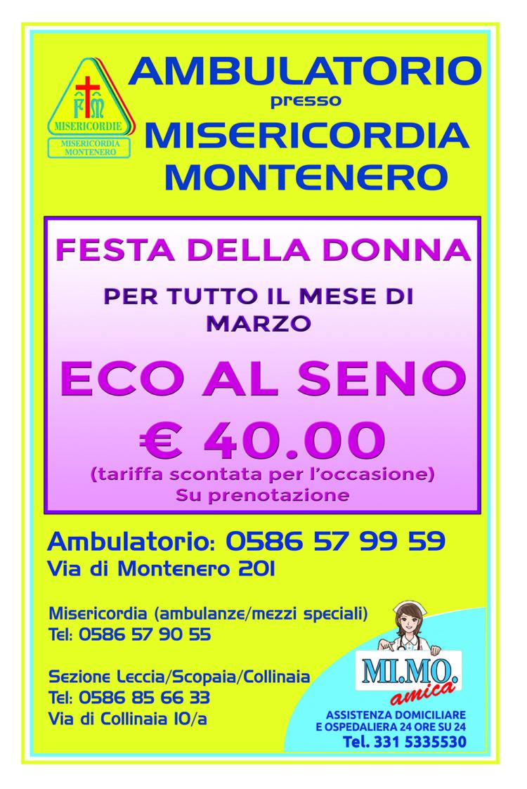 Ambulatorio – la promozione per il mese di Marzo: Eco seno, 40 Euro