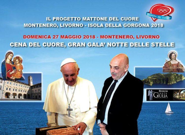"""Montenero-Gorgona: parte oggi la 3 giorni del """"Mattone del cuore"""""""