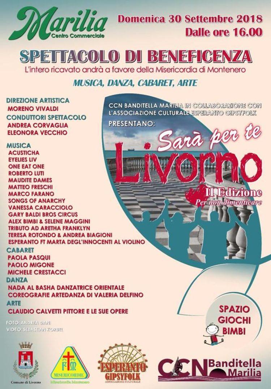 Sarà per te Livorno 2018:  Marilia, Domenica 30 settembre, dalle 16