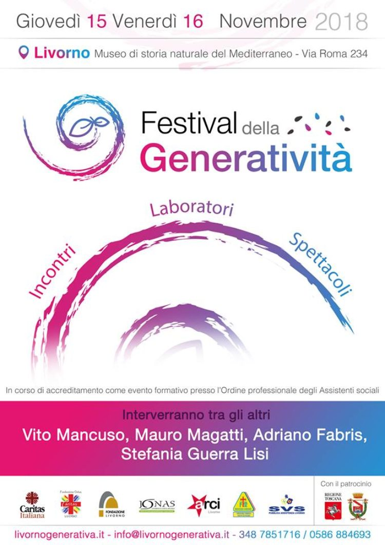 Festival della Generatività – 15 e 16 Novembre – Museo Storia Naturale – Via Roma 234