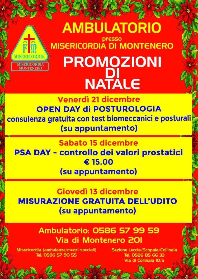 Ambulatorio: Le nostre offerte per il mese di Dicembre