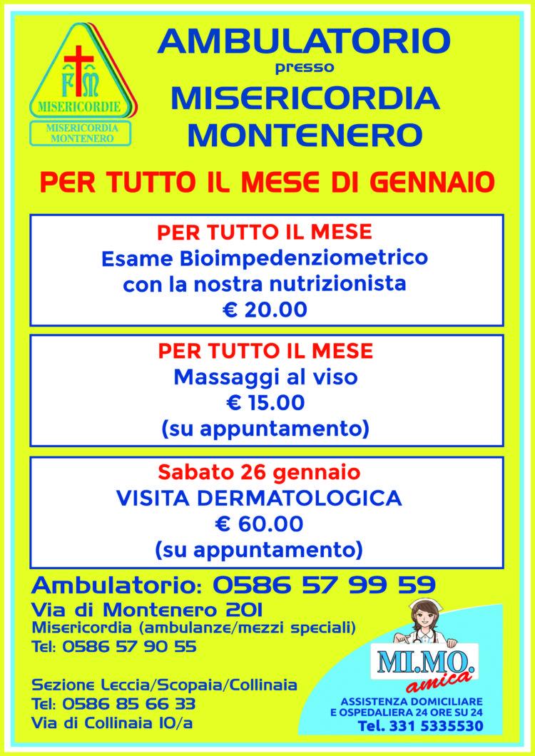Ambulatorio: Le nostre offerte per il mese di Gennaio