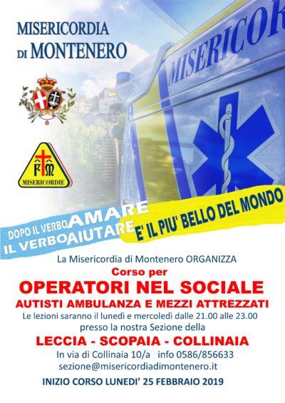 """""""AUTISTA NEL SOCIALE"""" : il nuovo Corso per diventare Autista Volontario di Ambulanza e mezzi sociali, dal 25 Febbraio"""
