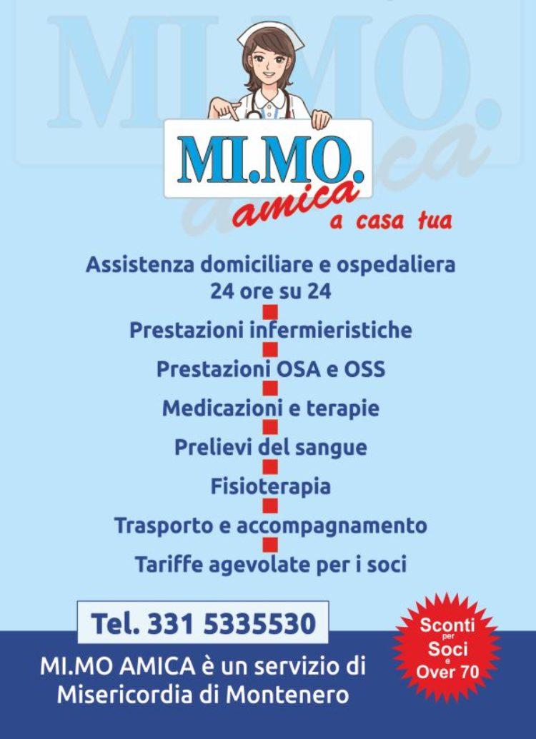 """Servizio """"Mimo Amica"""" Assistenza Domiciliare e Ospedaliera:  in 3 mesi superati i 1.400 interventi"""