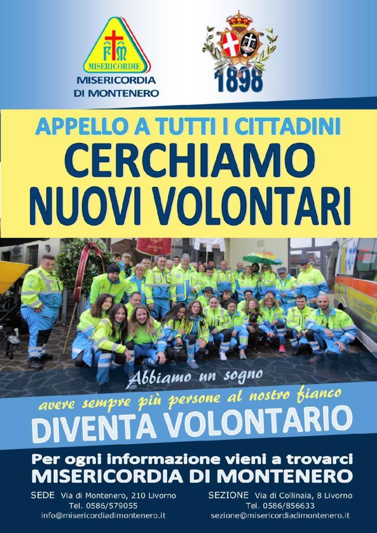 In anteprima il nuovo volantino della campagna di reclutamento volontari della Misericordia di Montenero