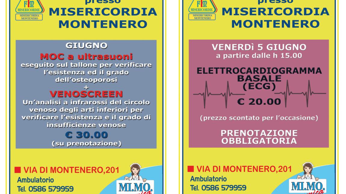 Ambulatorio presso Misericordia di Montenero: le offerte per il mese di GIUGNO
