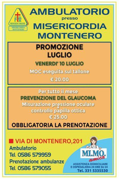 Ambulatorio presso Misericordia di Montenero: le offerte pr il mese di LUGLIO