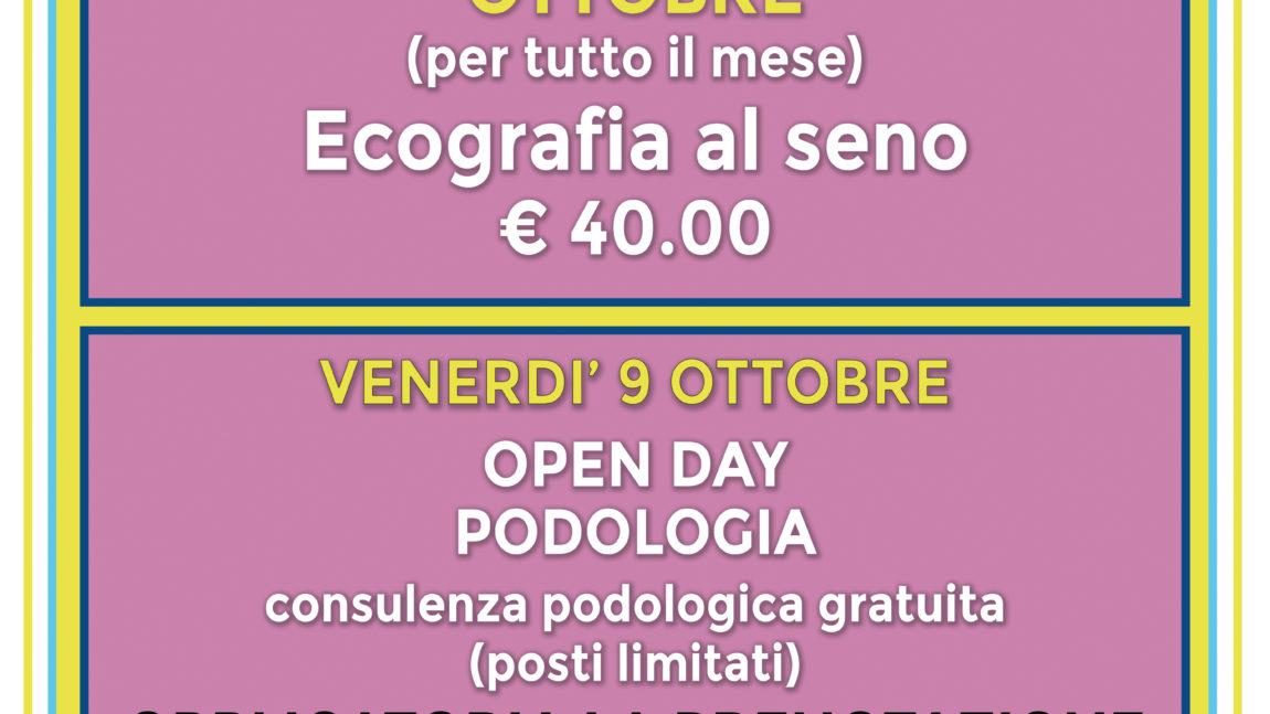 Ambulatorio presso Misericordia di Montenero: le offerte per il mese di OTTOBRE