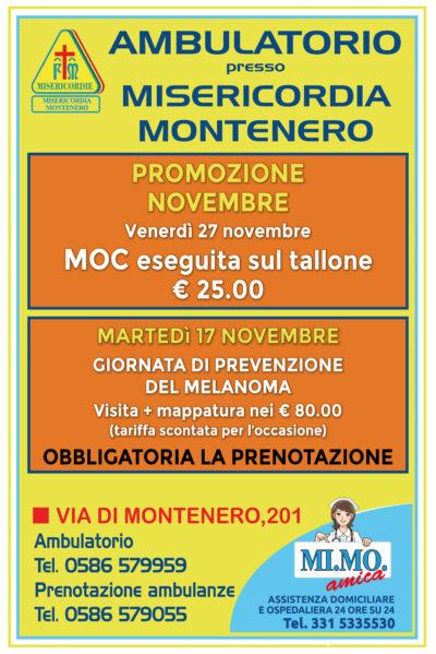 Ambulatorio presso Misericordia di Montenero: le offerte per il mese di NOVEMBRE