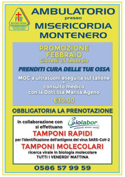Ambulatorio presso Misericordia di Montenero: le offerte per il mese di FEBBRAIO