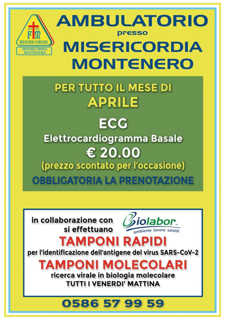 Ambulatorio presso Misericordia di Montenero: le offerte per il mese di APRILE
