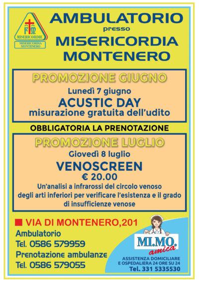 Ambulatorio presso Misericordia di Montenero: le nostre offerte per i mesi di GIUGNO e LUGLIO