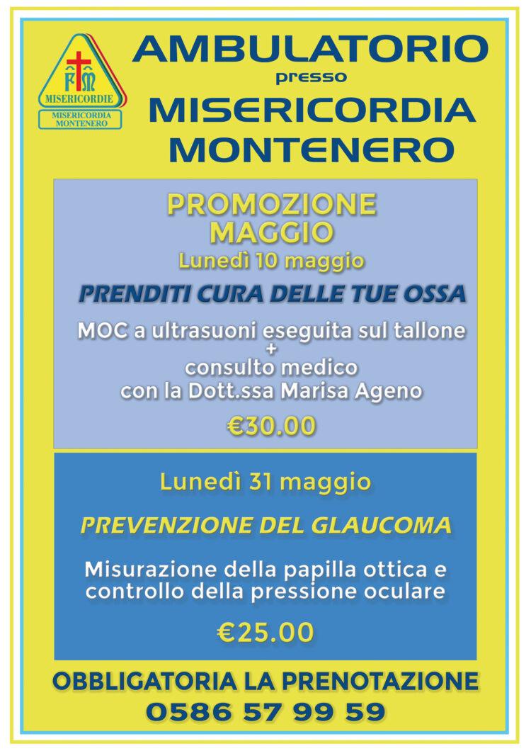 Ambulatorio presso Misericordia di Montenero: le nostre offerte per il mese di MAGGIO